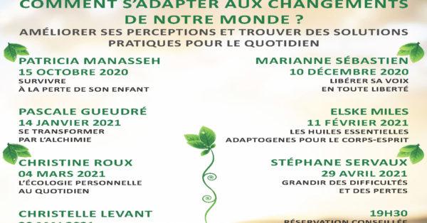 Programme des conférences-ateliers 2020-21